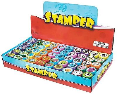NY TOYZ High Quality 50 Assorted Stamps for Kids- #1 Self Ink Washable Plasti...