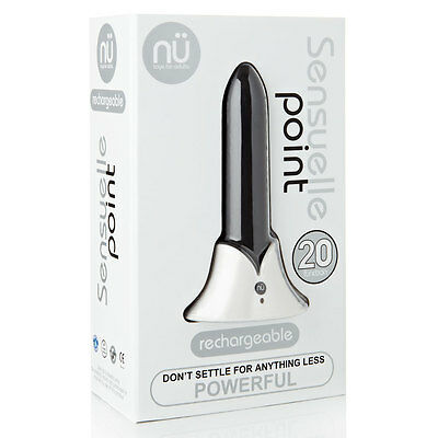 Sensuelle Point Bullet Style 20 Function Rechargeable Massager- Brand New BLACK