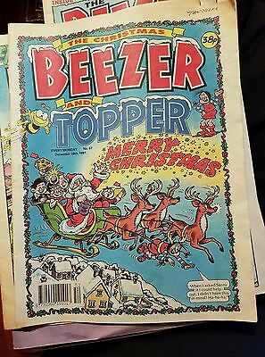 THE BEEZER & TOPPER Comic - No 67 - Date 28/12/1991 - Christmas issue