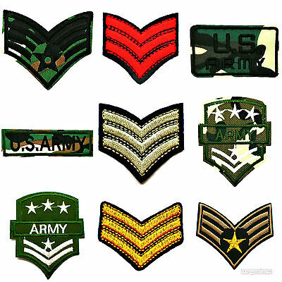 Patch Aufnäher Usa Afbügler Army Stars Stern Sergeant Camouflage Soldat Arme