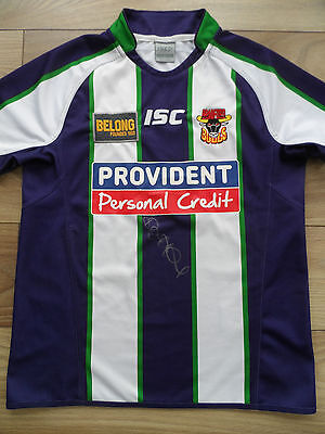 Robbie Hunter Paul Hand Signed Bradford Bulls Rugby League Shirt Autograph - COA