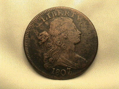 1807/6  Draped Bust Large Cent. Overdate!
