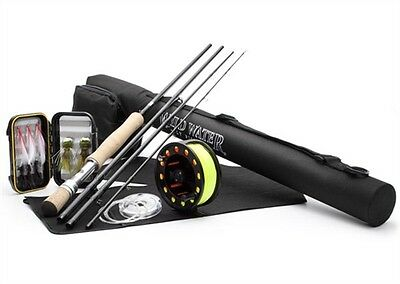 Wild Water Fly Fishing DELUXE  7/8 Fly Fishing Starter Package for Freshwater