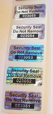 """1000 SVAG 1/2"""" x 1"""" Security Seal Do Not Remove #'d Hologram Label Stickers"""