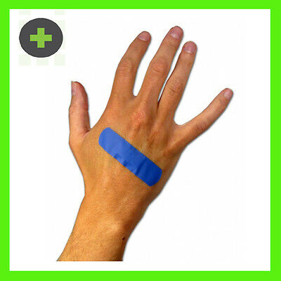 x50 A CARE BLUE BANDAIDS FOOD SAFE  DETECTABLE STRIPS STERILE WATERPROOF