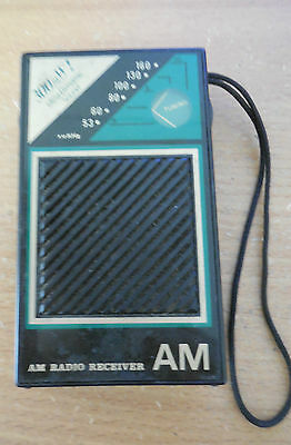 Vintage  Pocket Transistor  AM Radio reciver it works -300mW!