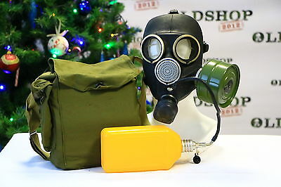 Gas Mask GP-7V Kit Soviet Russian with flask NEW VINTAGE GENUINE RETRO ORIGINAL