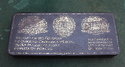 WW1 Gift from the Colonies Chocolate Tin Trinidad Grenada St Lucia