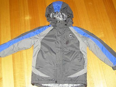 Boys Blue & Grey Hooded Fleece Lined Jacket (Ski)/ Coat Size 6, Exc. Condition