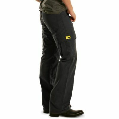 NEW Draggin Jeans Kevlar Lined Relaxed Fit Black Mens Motorcycle Cargo Pants