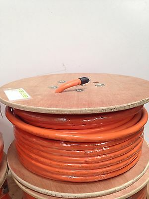 16.0mm 2 Core + Earth Orange Circular Electrical Cable 100mtr Roll