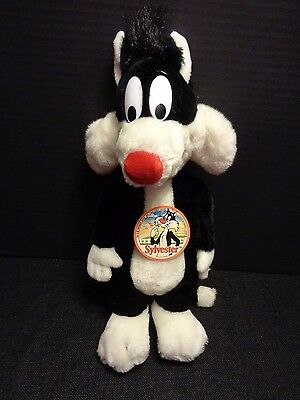 "Mighty Star Warner Bros SYLVESTER THE CAT 16"" Plush Toy Looney Tunes 1990"