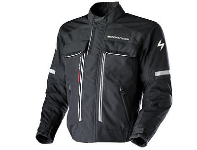 Mens Scorpion Admirals Motorcycle XDR LIGHT MOTORCYCLE BLACK Jacket size LARGE