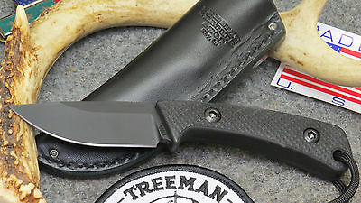 Treeman Combat E.d.c. Every Day Carry Knife With Leather Pocket Sheath *awesome