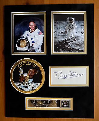 Buzz Aldrin Signed Apollo 11 Moonwalker Display 2 - Uacc & Aftal Rd Autograph
