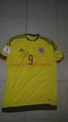 Falcao Colombia Match worn Shirt  qualifiers match world cup 2018