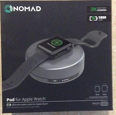 Nomad Charging Pod for Apple Watch - (pod-apple-sg-001) - Space Gray - New!
