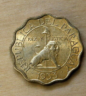 1953 Paraguay 15 Centimos