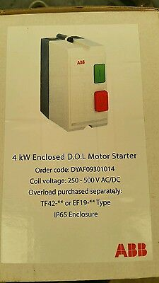 ABB - DOL STARTER - 4Kw 415 coils -  IP65 - DYA 9 30 86 -BRAND NEW Free Shipping