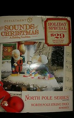 DEPT 56 NORTH POLE VILLAGE Accessory The Sounds of Christmas String Trio NEW