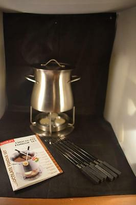 Stunning Bodum Stainless Steel Chocolate Fondue Set In Box With Recipes
