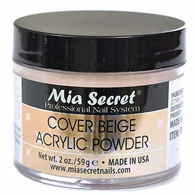 Mia Secret Cover Beige Acrylic Powder 2 oz Nail Bed Made in USA TOP SELLER NEW