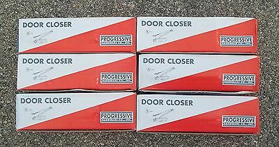 LOT of 6 ~ Progressive K730 Size 3 Silver Commercial Door Closer ~ FREE SHIPPING