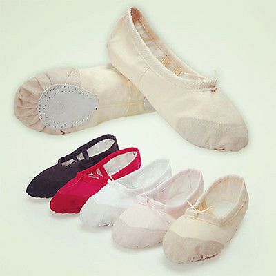 NEW Child Adult Ballet Dance Shoes Soft Canvas Slippers Pointe Dance Gymnastics