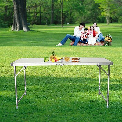 4Ft Folding Table Picnic/camping/bbq Banquet/party/market/garden