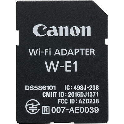 Canon W-E1 Wi-Fi Adapter for Canon EOS 7D Mark II, 5DS, and 5DS R DSLRs