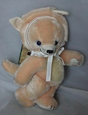 "Merrythought Cheeky Litle Kitten Cheeky Mohair Teddy Bear with  bells 11"" LE250"