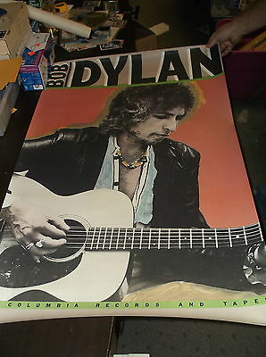 "Very Rare 1980 Bob Dylan Columbia Records Promo Poster 28""x 44"" Very Nice"