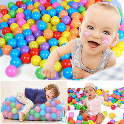 50X 100X Baby Kid Pit Toy Game Swim Pool Soft Plastic Ocean Ball Colorful Ball