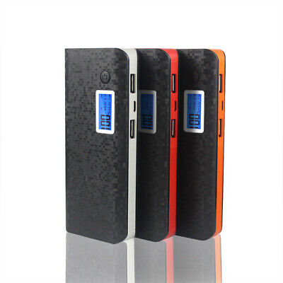 AU 50000mAh Power Bank 3 USB LCD Backup Pack Battery Charger For Universal Phone