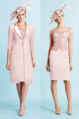 Sheath Lace Appliques Mother Of The Bride Dress With Jacket Wedding Guest Dress