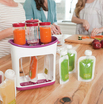 Infantino Squeeze Station Homemade Baby Food Maker + 50 SQUEEZE Pouches Storage