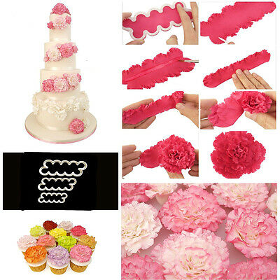Cake Decorate Fondant Gum Paste Easiest Carnation Ever Cutters Modelling Mould T