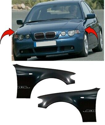Bmw 3 E46 Saloon/touring 2001-2005 Front Wing Primed Pair Left & Right New