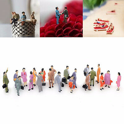 100PCS/1 Pack Model Figures 1:150 Train Building Layout People Passenger N Scale