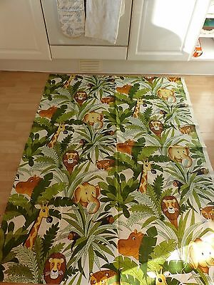 Vintage Whipsnade 1960 70s jungle animal cotton childrens interior fabric retro*