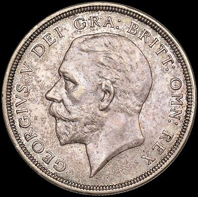 1933 Crown rare coin, King George V, wreathed crown. EF.
