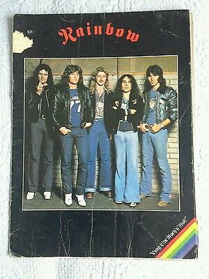Rainbow - 1977 - Long Live Rock N Roll Tour Programme - Dio - Blackmore - Powell