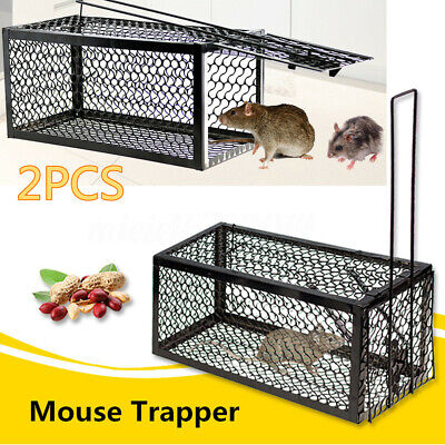 2Pcs Rat Catcher Spring Cage Trap Humane Large Live Animal Rodent Indoor Outdoor