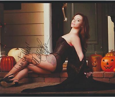 "Danielle Harris ""Scream Queen"" EXTREMELY RARE (TATTOO) SIGNED RP 8X10 WOW!!!"