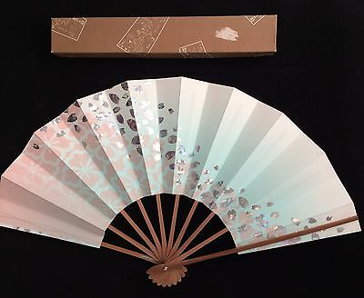 Vintage Japanese collectable bamboo fan sensu with box, Japan import (D789)