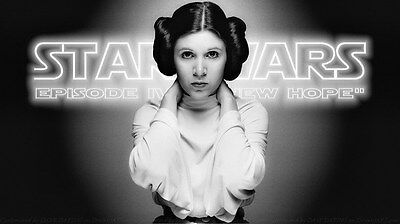 "028 Carrie Fisher - Princess Leia Organa Star War USA Actor 24""x14"" Poster"