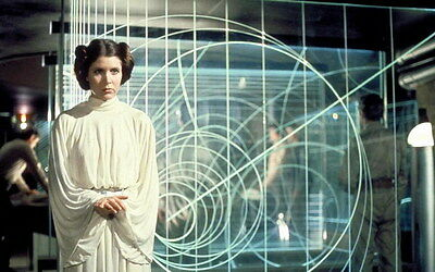 "072 Carrie Fisher - Princess Leia Organa Star War USA Actor 22""x14"" Poster"