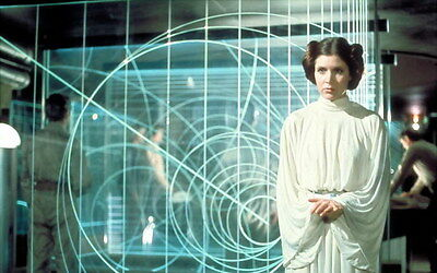 "067 Carrie Fisher - Princess Leia Organa Star War USA Actor 22""x14"" Poster"