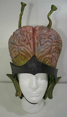 Custom Movie Prop Alien Brain Latex Helmet Mask Sci Fi Mars Attacks Island Earth