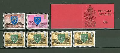 Booklet D30 GB Jersey MNH 6v Coats of Arms